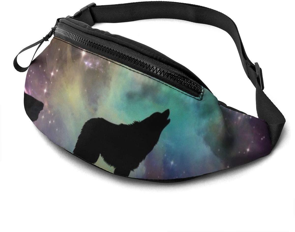 Wolf Howling Fashion Casual Waist Bag Fanny Pack Travel Bum Bags Running Pocket For Men Women