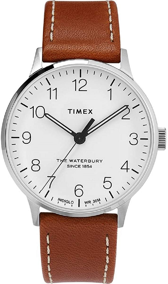 Timex The Waterbury Classic Quartz Movement White Dial Men's Watch TW2T27500