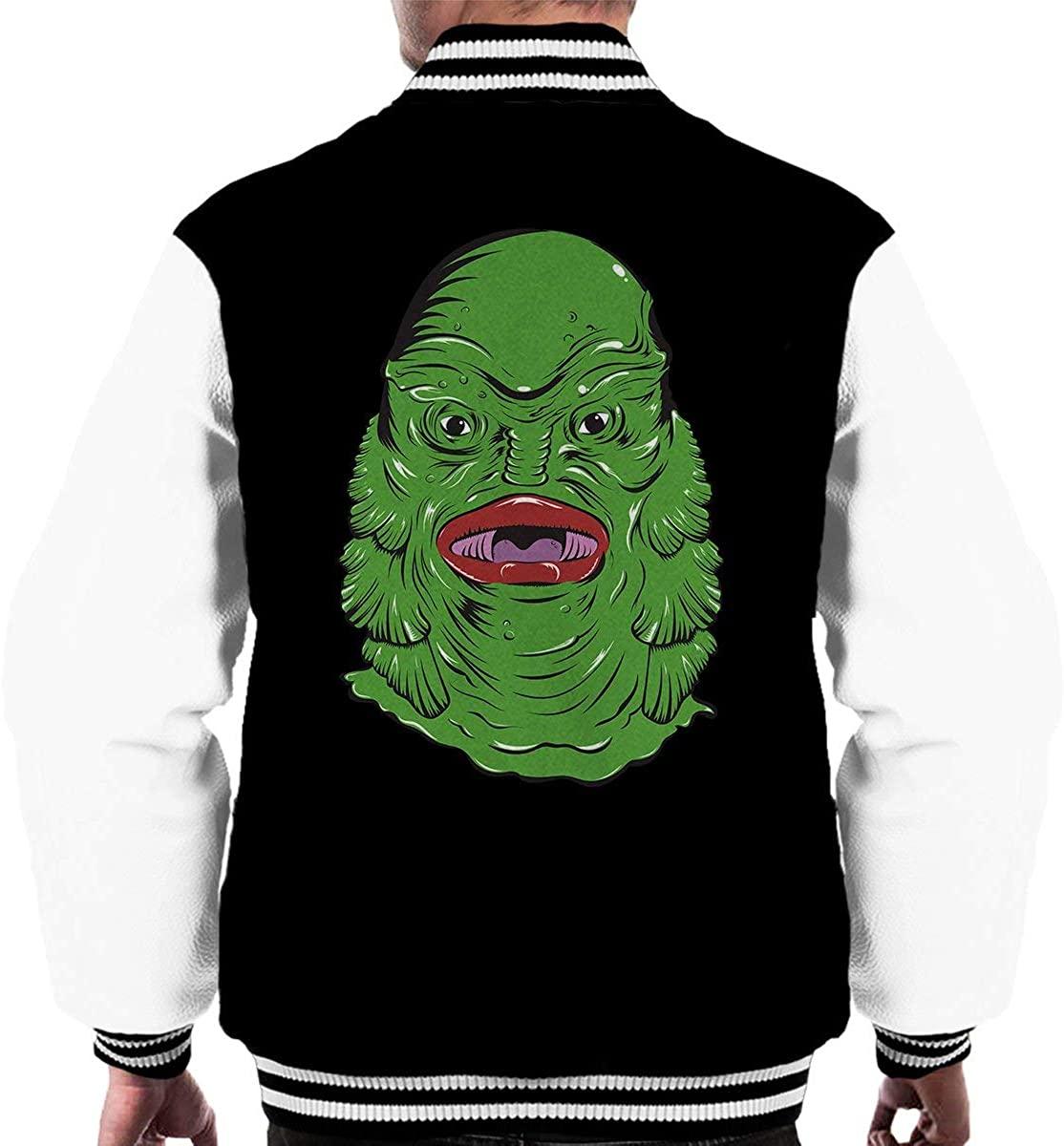XDTDRYRYU Creature from The Black Lagoon Face Men's Varsity Jacket