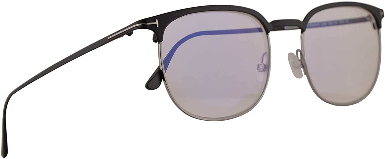 Tom Ford FT5549B Eyeglasses 52-19-145 Matte Black Palladium w/Demo Clear Lens 005 FT5549-B FT 5549B TF 5549-B TF5549B TF5549-B