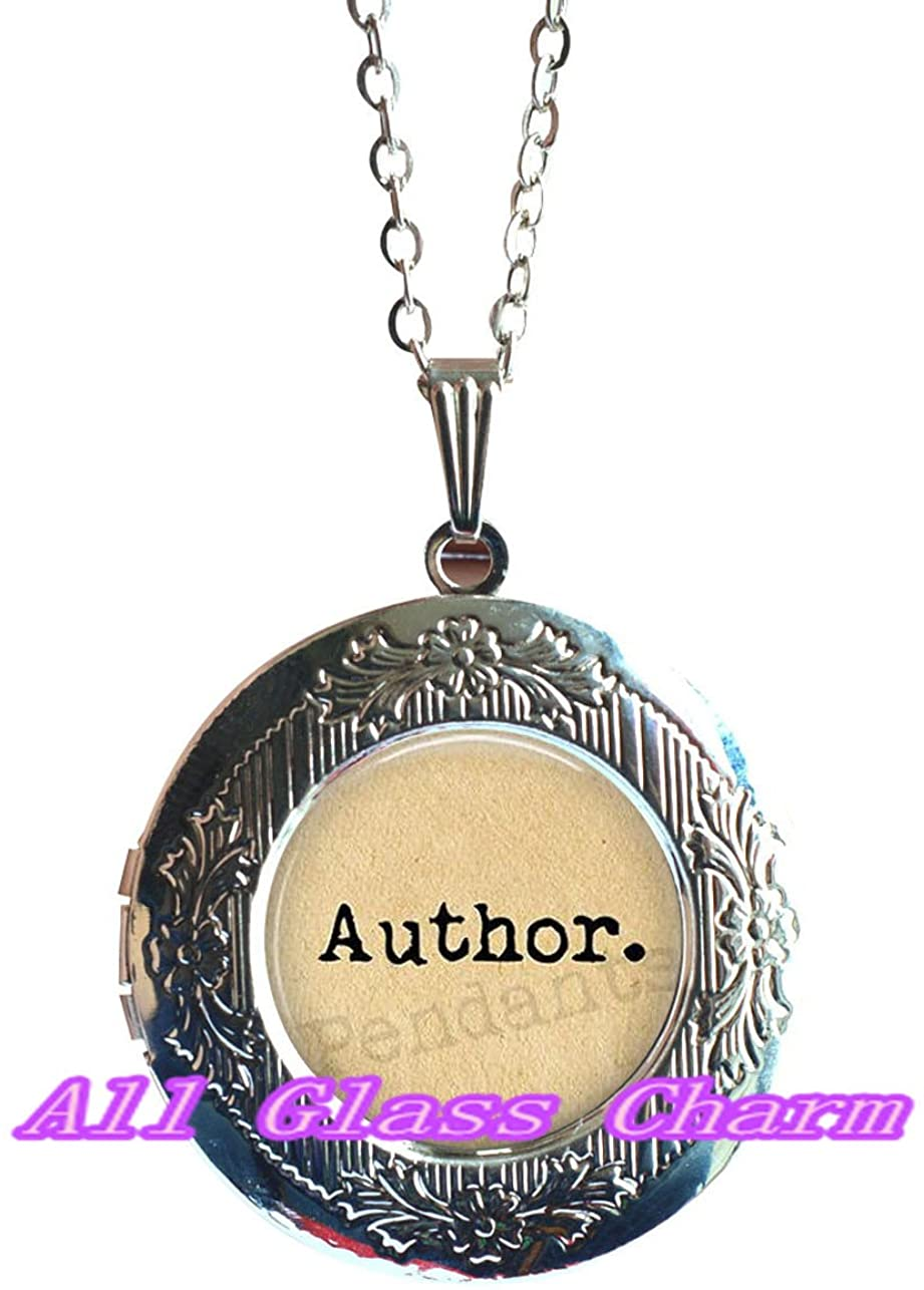 Beautiful Locket Necklace,Author Locket Necklace Locket Pendant - gift for writer - writing jewellery - love to write - writer jewelry - author jewelry - literature jewelry,AS0171