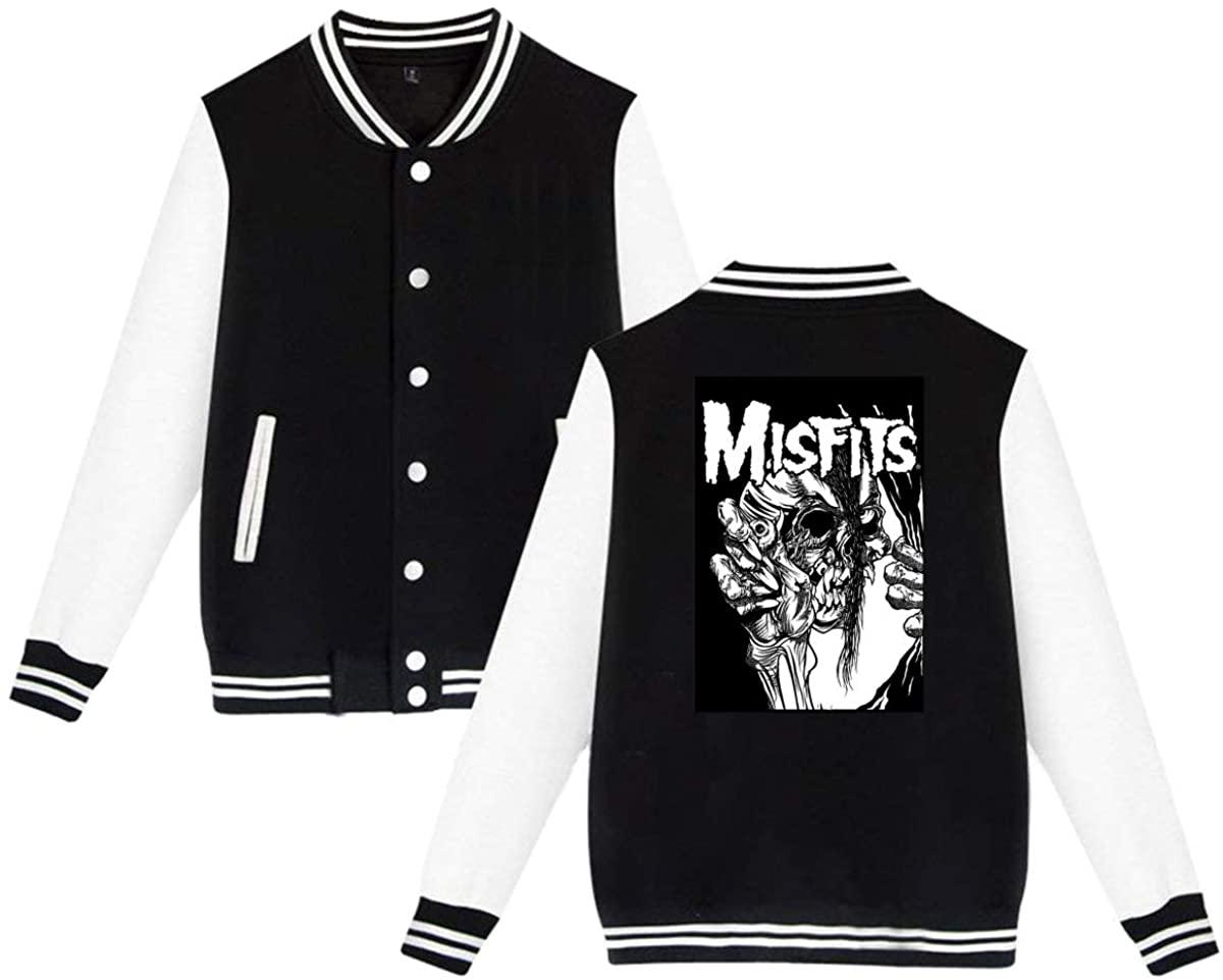 1836 Misfits Distressed Unisex Baseball Jacket Varsity Jacket