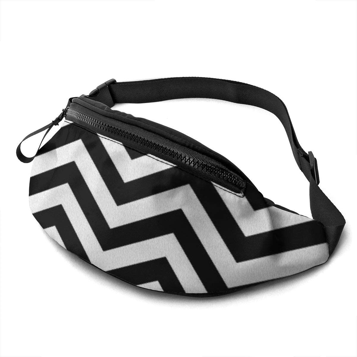 White Lodge Flooring Fanny Pack for Men Women Waist Pack Bag with Headphone Jack and Zipper Pockets Adjustable Straps