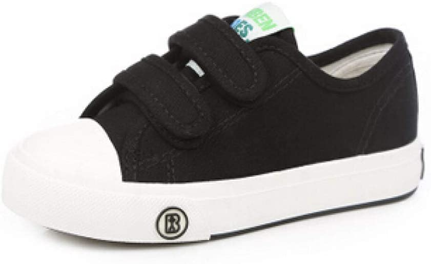 Baby Girls Boys Soft Canvas Shoes Hook Loop Lightweight Breathable Athletic Slip-On First Walkers Shoes