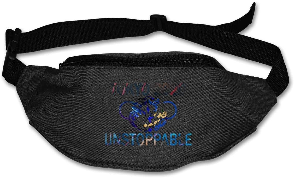 Ssxvjaioervrf Sonic Tokyo 2020 Unstoppable Running Belt Waist Pack Runners Belt Fanny Pack Black