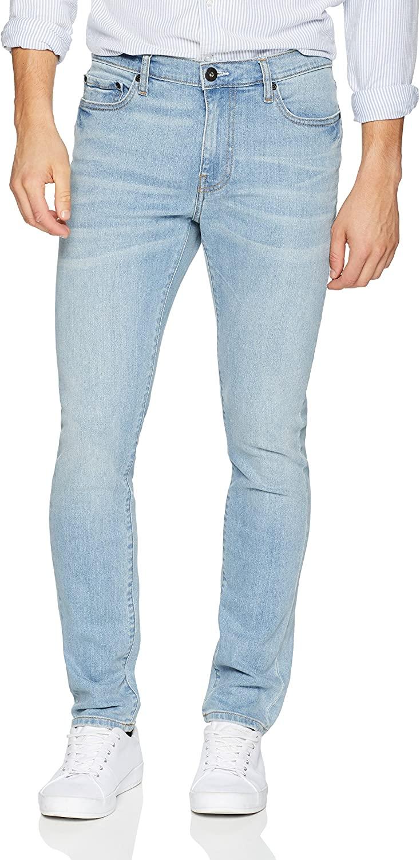 DHgate Brand - Goodthreads Men's Skinny-Fit Comfort Stretch Jean, Light Blue, 34W x 28L