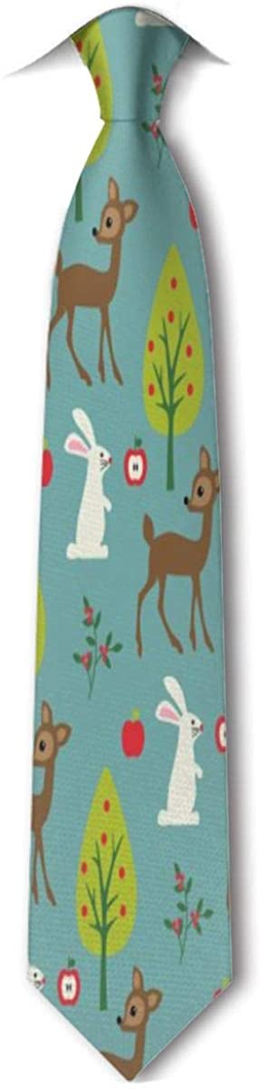 Deer And Rabbit Men's Tie Hipster Skinny Neckwear Leisure Neckties