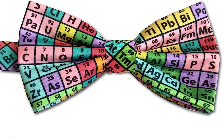Periodic Table of Elements Chemistry Bow Tie, Rainbow, Microfiber