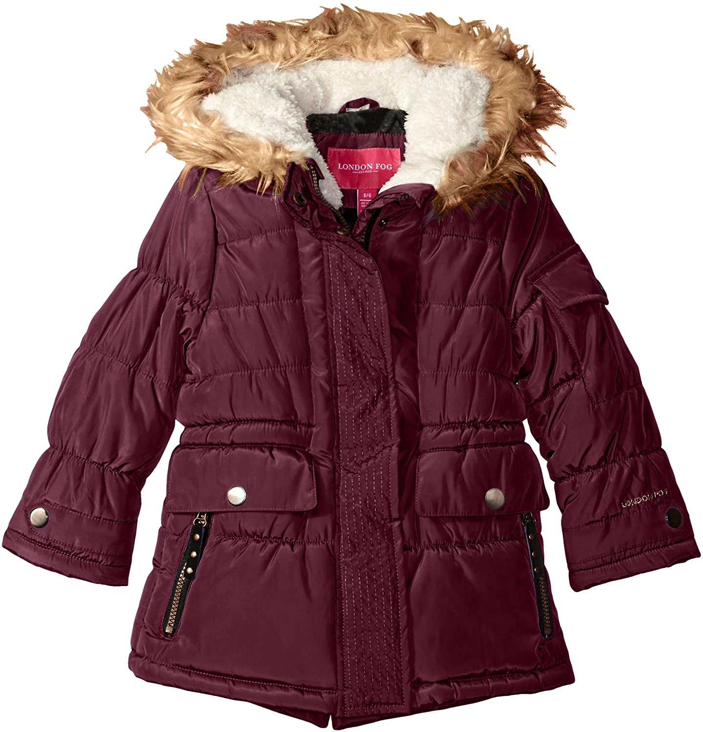 London Fog Little Girls Heavyweight Expedition Parka with Print Lining