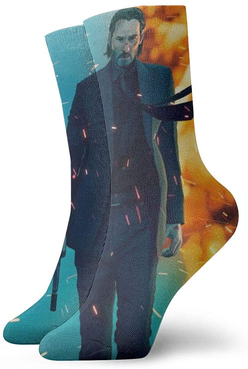 GPerlaAlva John Wick Men's Cotton Work Gear Crew Socks Cushioned, Wicking, Durable