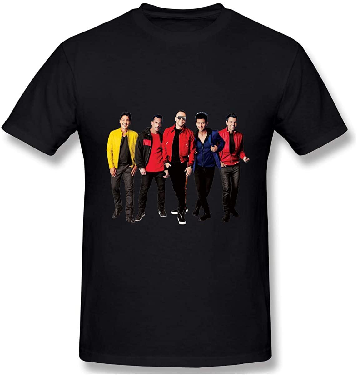 Hbokink New Kids On The Block Men's Athletic Men's Cotton Short Sleeve T-Shirt Black