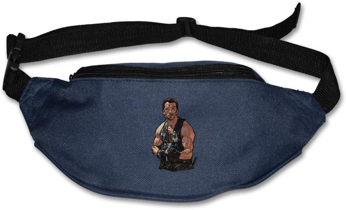Ssxvjaioervrf Arnold Schwarzenegger Running Belt Waist Pack Runners Belt Fanny Pack Navy