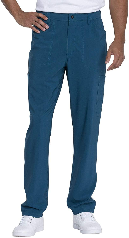 Dickies Advance Solid Tonal Twist Men's Men's Straight Leg Zip Fly Cargo Pant, DK205, M, Caribbean Blue