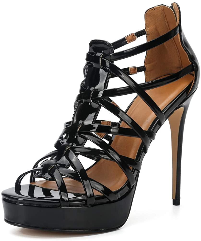 MAIERNISI JESSI Unisex Mens Womens Sandals Platform Stappy Stiletto High Heel