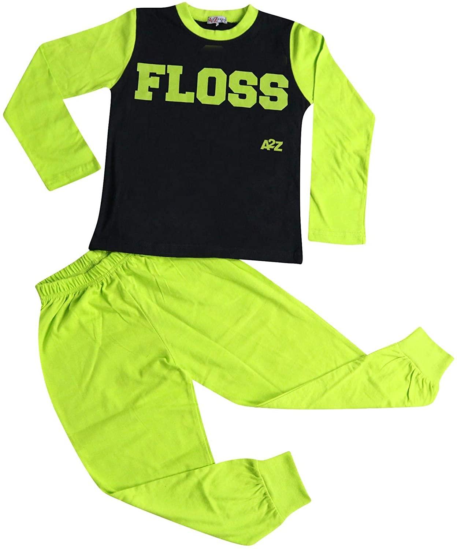 Kids Girls Boys Pyjamas Floss A2Z Fashion Loungewear Night Wear Pajamas Pjs Sets