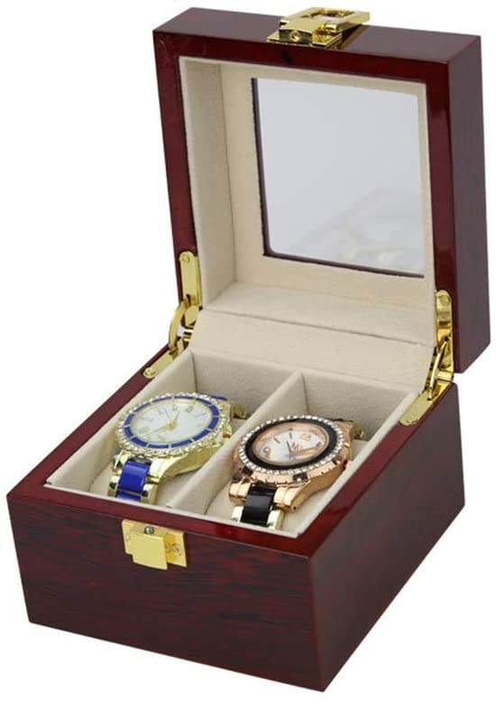 Watch Storage Box Watch Display Organizer Watch Case Holder 3/6 Grids Watch Box With Compartments Transparent Window Jewellery Display Box With Lid Removable Pads For Men Women Watch Storage Boxes For
