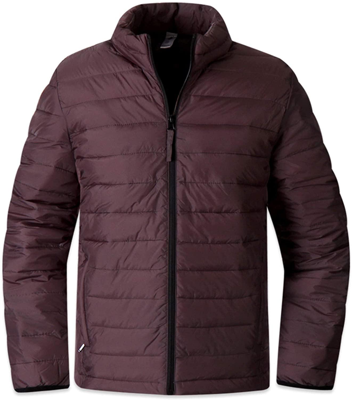 Mens Light Weight Padding Coat Blazer Jacket Casual Jumper Outdoor Parka M029