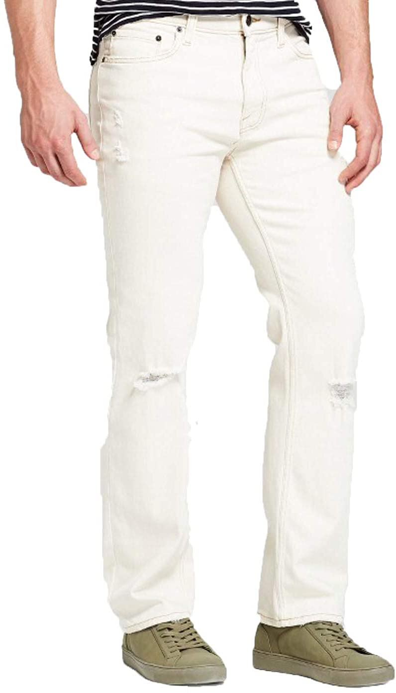 Goodfellow & Co Men's Straight Fit Jeans with Cloomax - Off White -