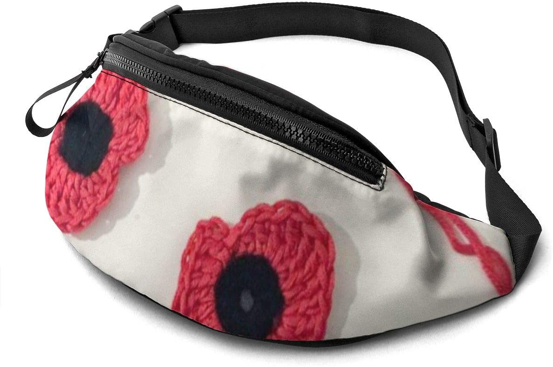Art Flower Fashion Casual Waist Bag Fanny Pack Travel Bum Bags Running Pocket For Men Women