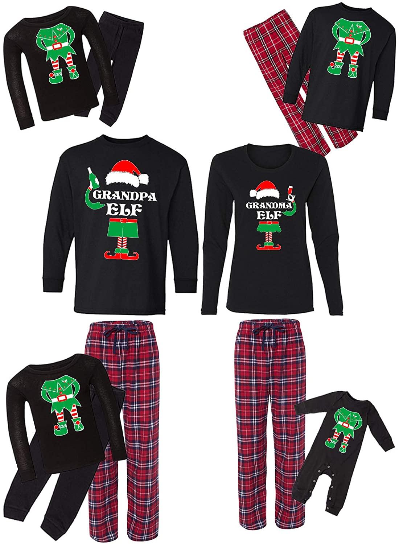 Awkward Styles Family Christmas Pajamas Set Red Santa Squad Elfs Matching Sleepwear