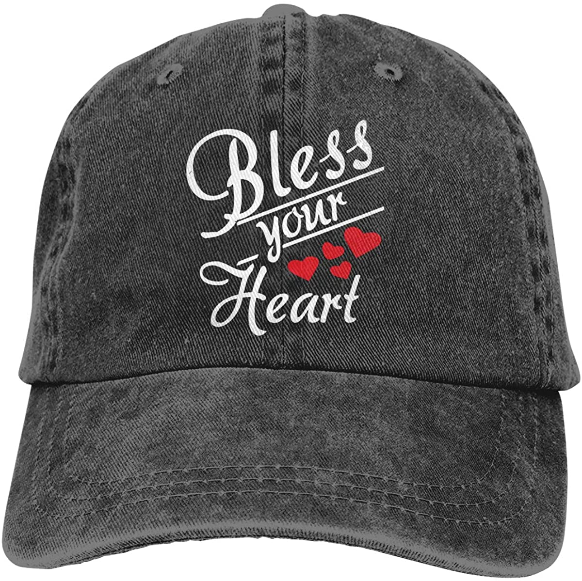 PTNHINAMO Bless Your Heart Unisex Fashion Cool Adult Adjustable Denim Cowboy Hat