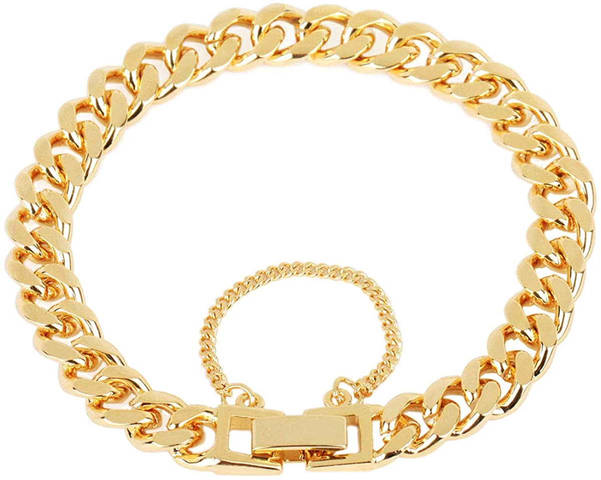 MEZMIC 1829 Sky Collection 8mm Thin Beveled Chain Bracelet