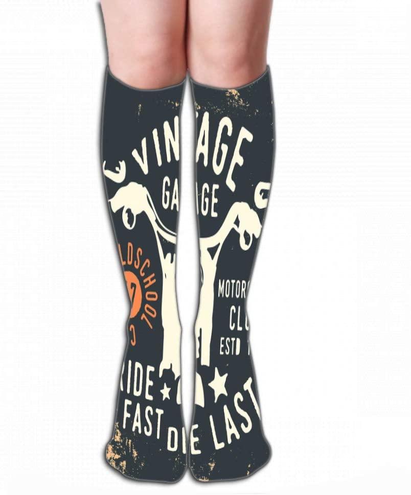 Xunulyn Pattern Men's Socks High Graduated Casual Socks 19.7