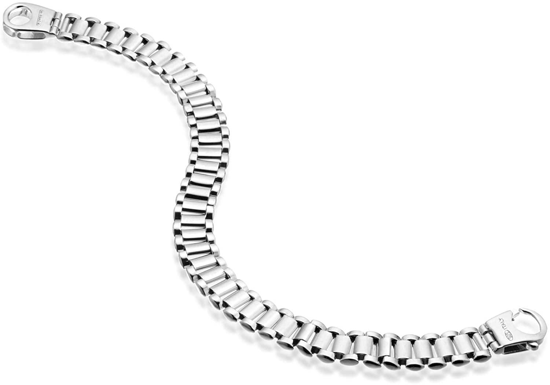Quadri - 925 Pure Sterling Silver 9mm Link-bracelet for Men 7,5