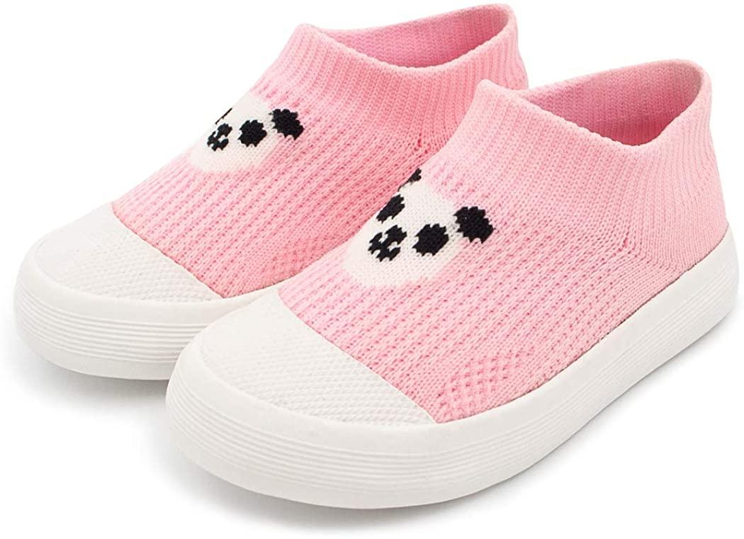 Kids Breathable Elastic Slip On Shoes - Rainbow Panda