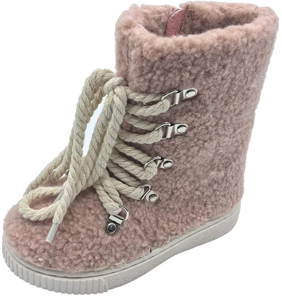 LUTI Kid Girls Boys Artificial Fur Cute Casual Boots SH930 (3 M Little Kid US) Pink