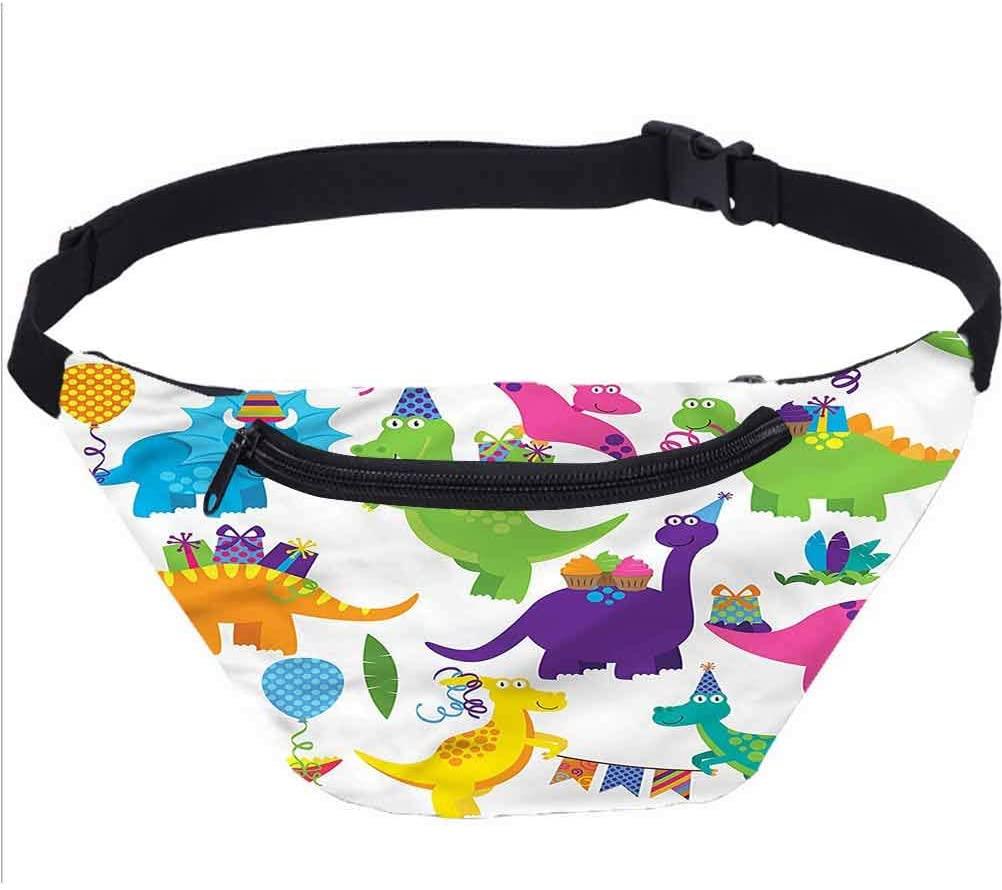 Seascape Travel Fanny Bag,Wooden Pier Serene Lake Waist Pack Travel Crossbody Hip Bag