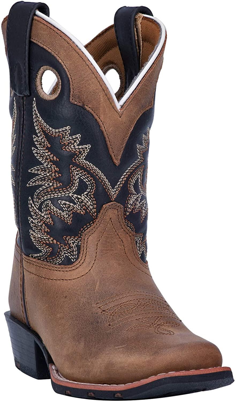 Dan Post Boys' Rascal Western Boot Square Toe Brown 6 D