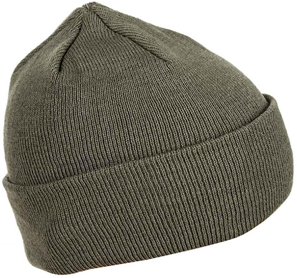 Mil-Tec Foliage Winter Watch Skull Cap Cuffed Knit Beanie Warm Hat Men Women Unisex