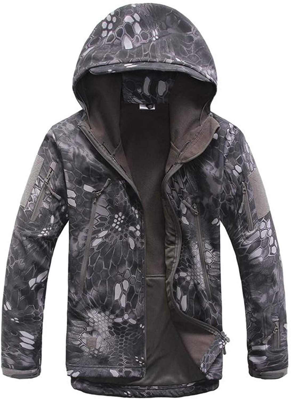 Army Camouflage Men Jacket Military Tactical Jacket Men Waterproof Windproof Hunt Jacket Coat Raincoat 4XL,Blak Python,