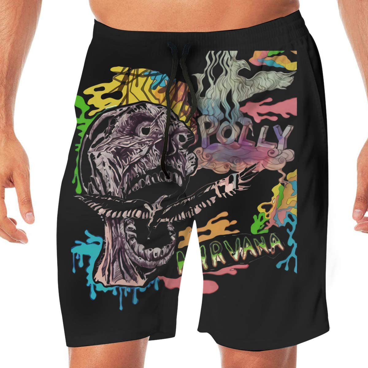 Nirvana Skeleton Eagle Quick DrySwim Trunks Water Shorts Swimsuit Beach Shorts