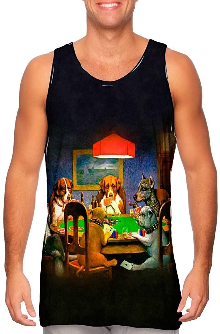 Yizzam- C. M. Coolidge - Dogs Playing Poker (1903) -Tshirt- Mens Tank Top