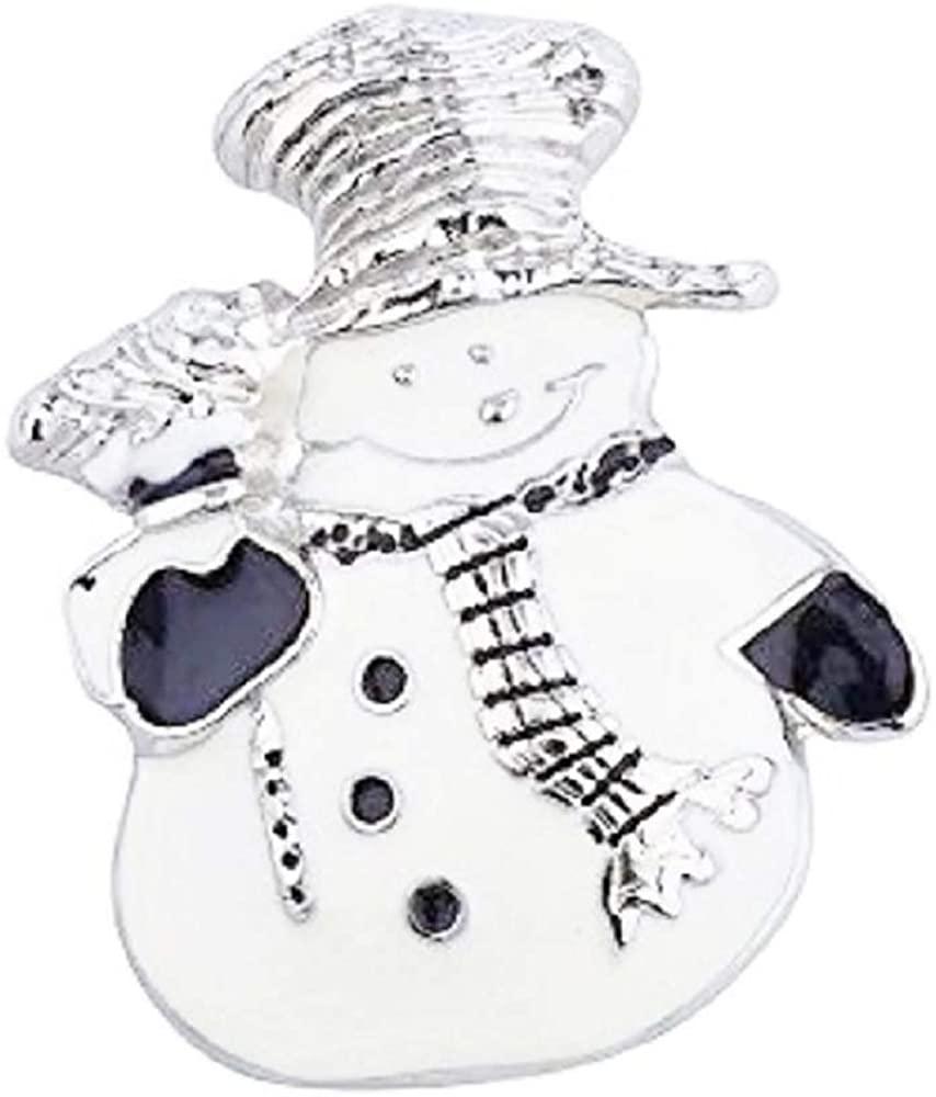 Snowman Snap Charm Button