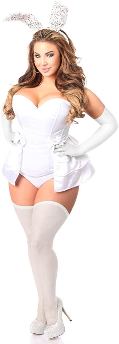 Daisy Corsets Women's Lavish 4 Pc White Bunny Corset Costume