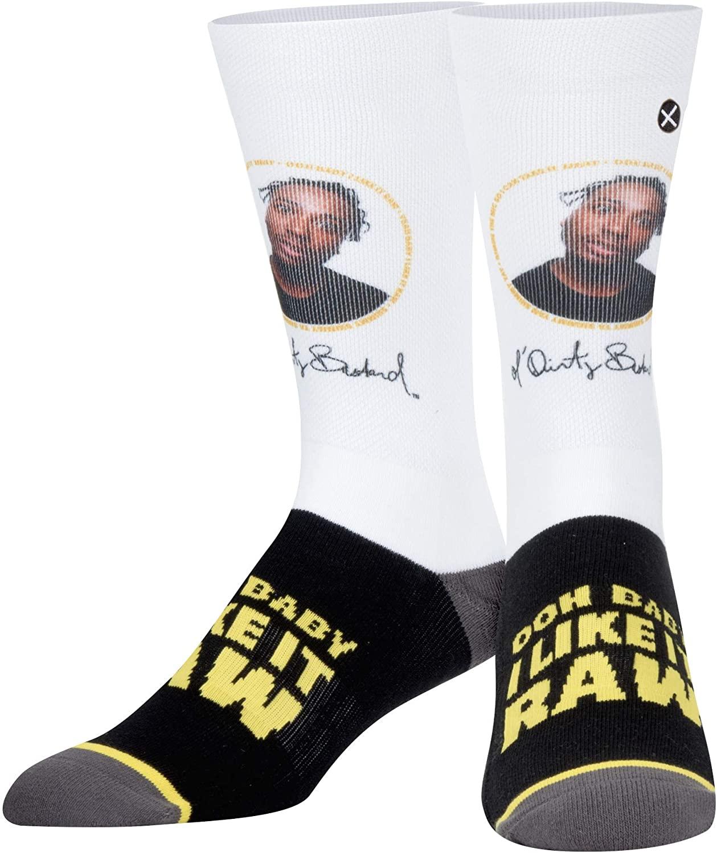 Odd Sox, Unisex, 90's Hip Hop, Ol' Dirty Bastard Shimmy, Crew Socks, Novelty Fun