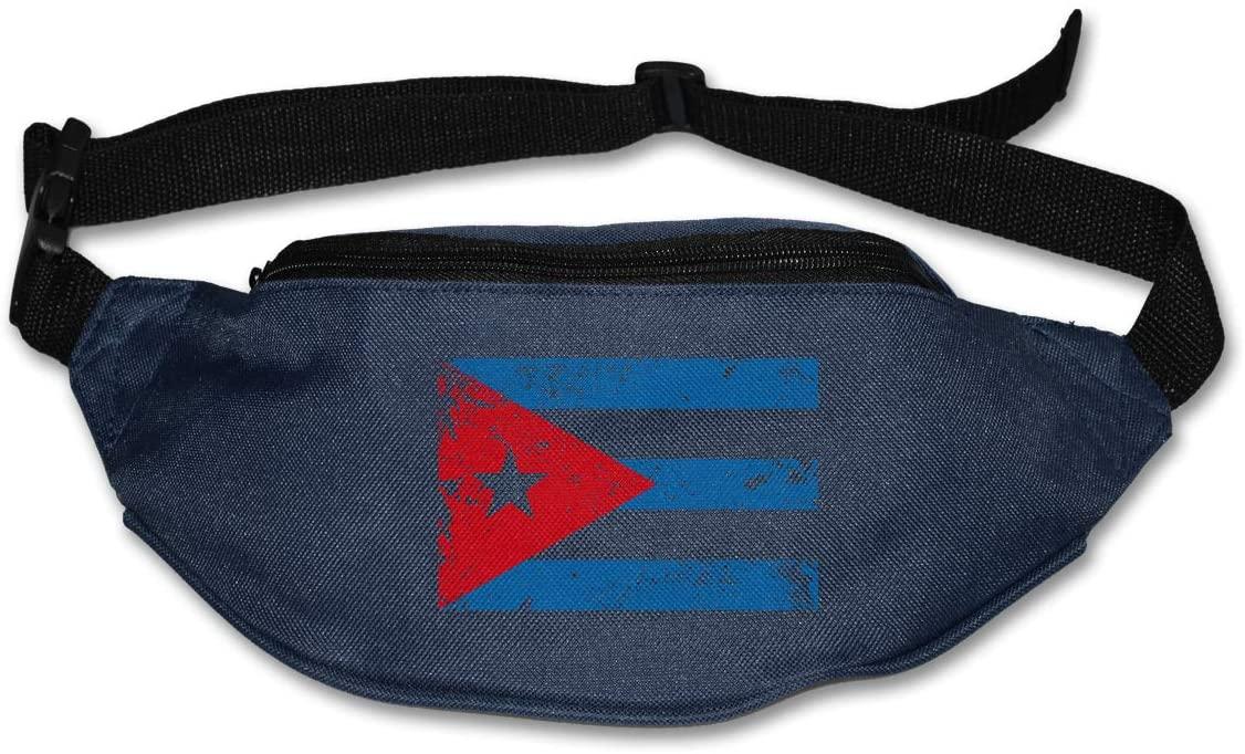 SWEET-YZ Unisex Waist Pack Retro Puerto Rico Flag Flat Fanny Bag Pack for Sport Running