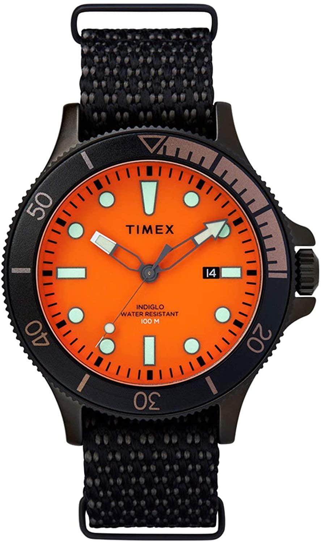Timex Allied(R) Coastline 43 mm Orange Dial Watch TW2T30200