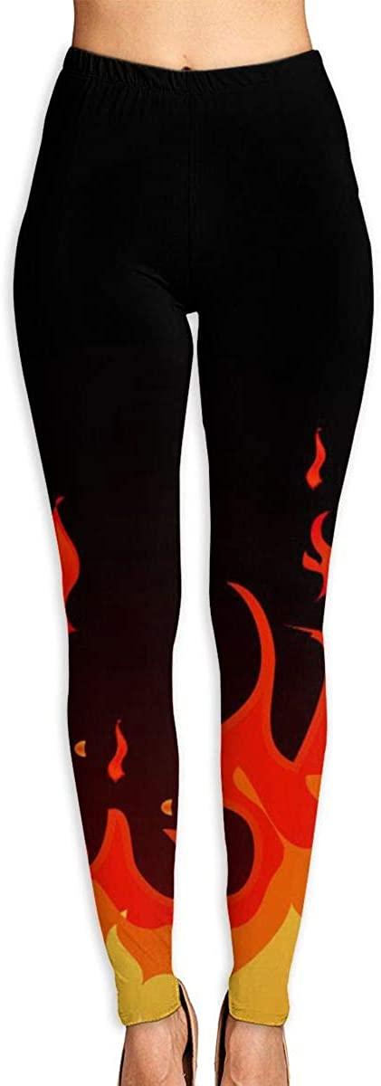 Apuiutw Letter Flame Women Funny Print Yoga Leggings Pants Workout Fitness Pants Sports Gym Yoga Quick Dry Capri Leggings