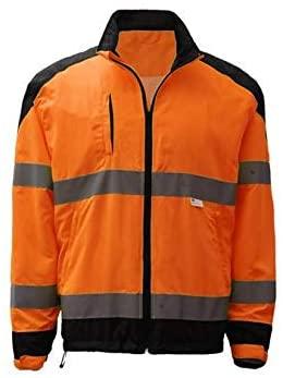 GSS Safety Premium Class 3 Zipper Windbreaker Jacket With Black Bottom