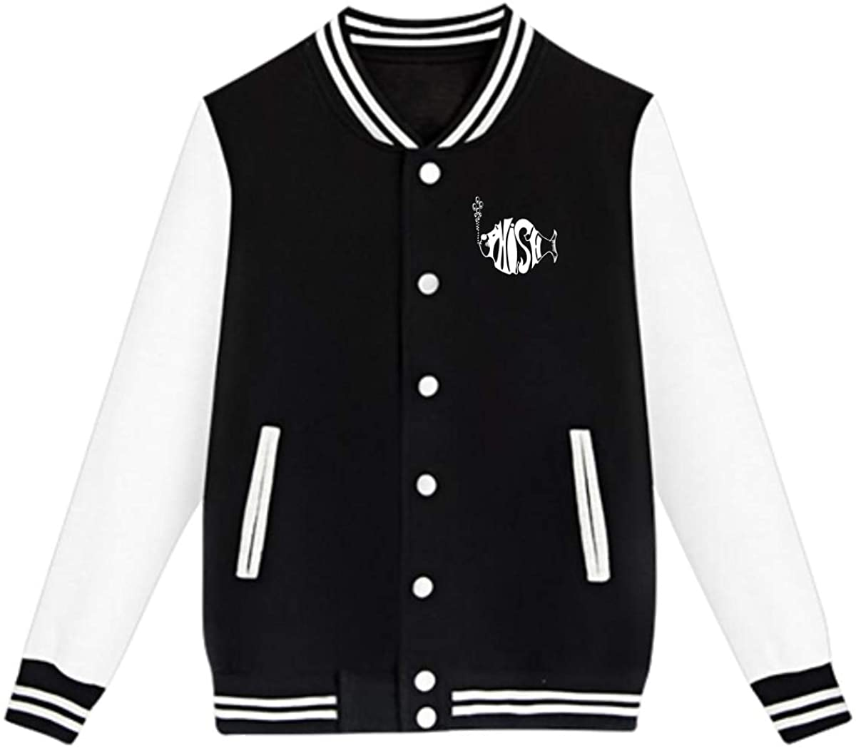 AHUAHUA Phish Music Band Unisex Youth Boys and Girls Sweatshirt Baseball Uniform Jacket Sport Coat