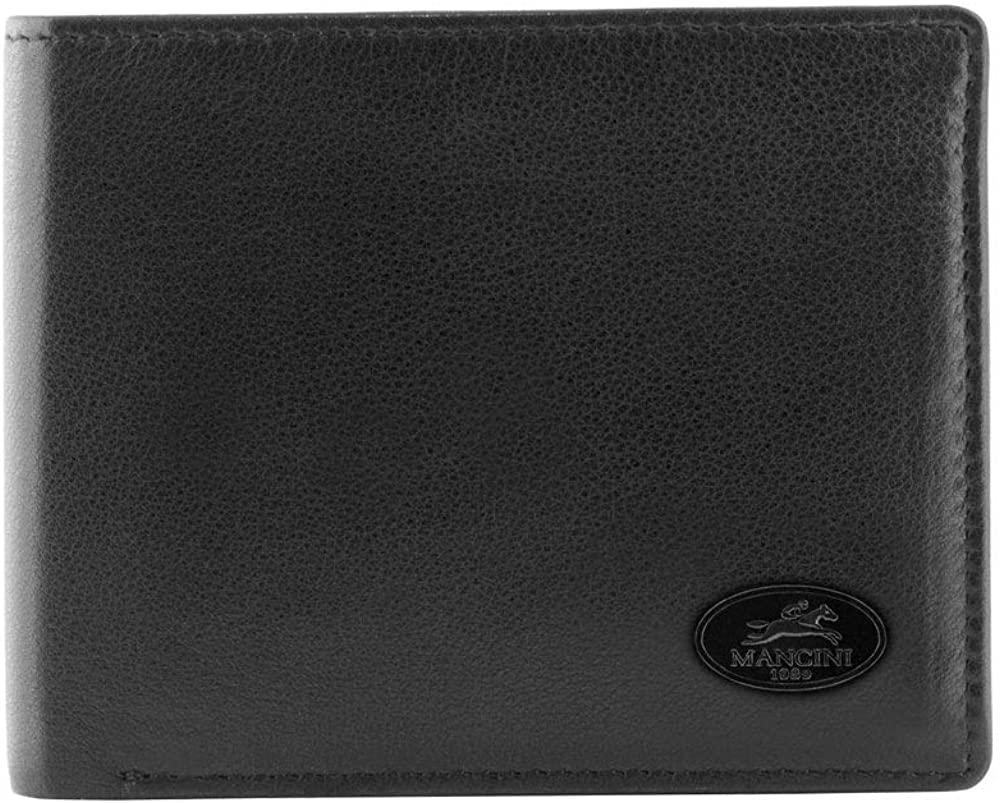 Mancini Men's RFID Secure Left Wing Leather Wallet