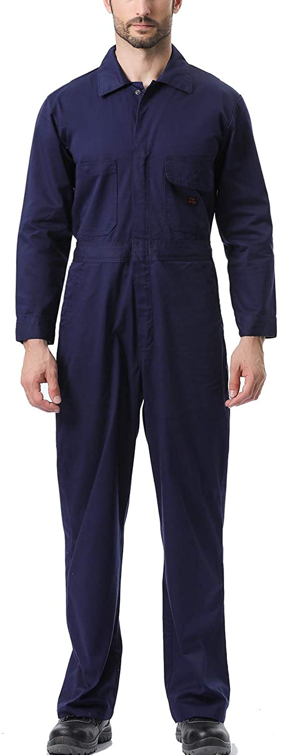 Titicaca FR Coverall Flame Resistant 7.5oz Lightweight 100% Cotton Men's Basic Blended Navy Coverall