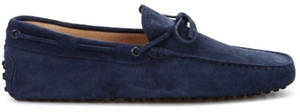 Tods Luxury Fashion Man XXM0GW05470RE0U820 Blue Suede Loafers | Spring Summer 20