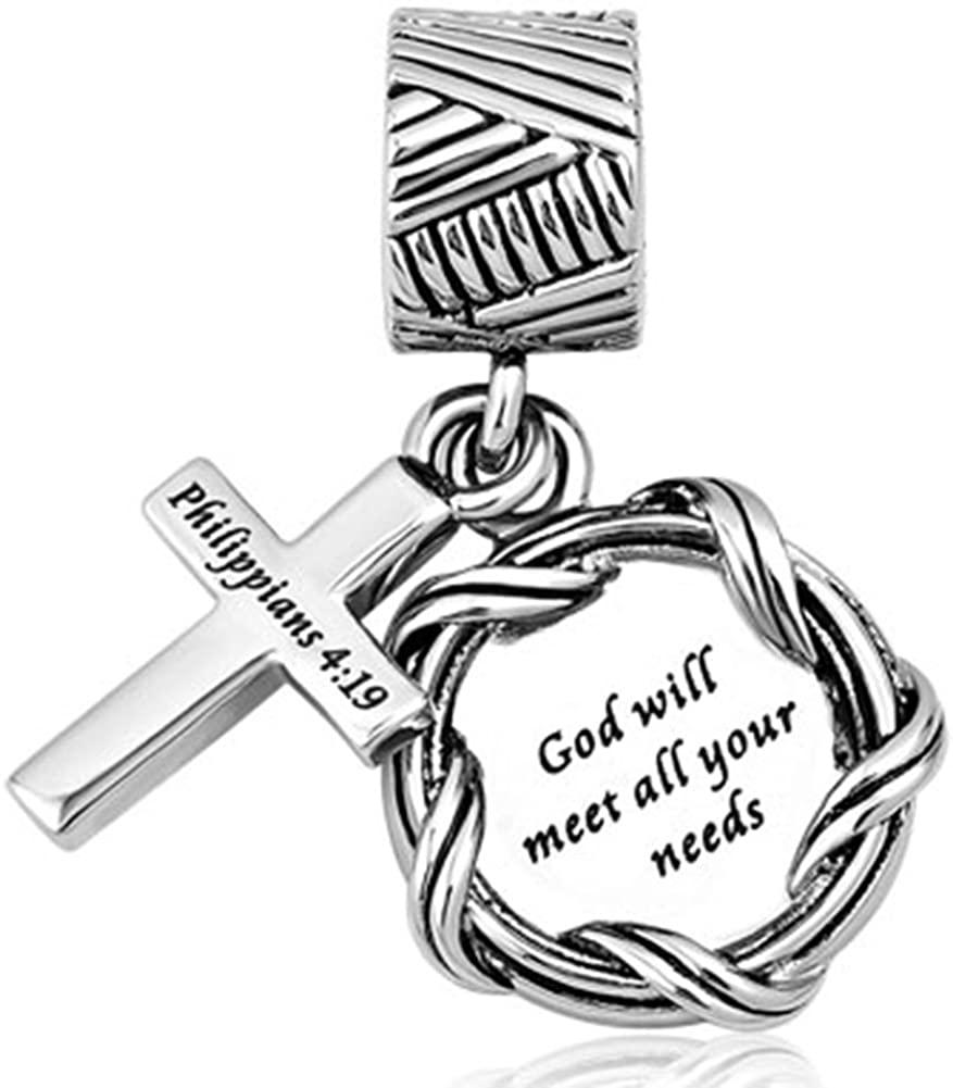 Chris Johnsons Cross Charms Religious God Prayer Bead Charms fit Bracelets