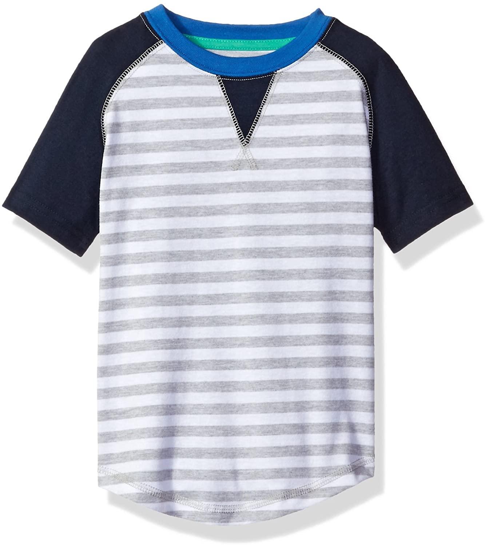 Sovereign Code Boys' Short Raglan Tee with Striped Print