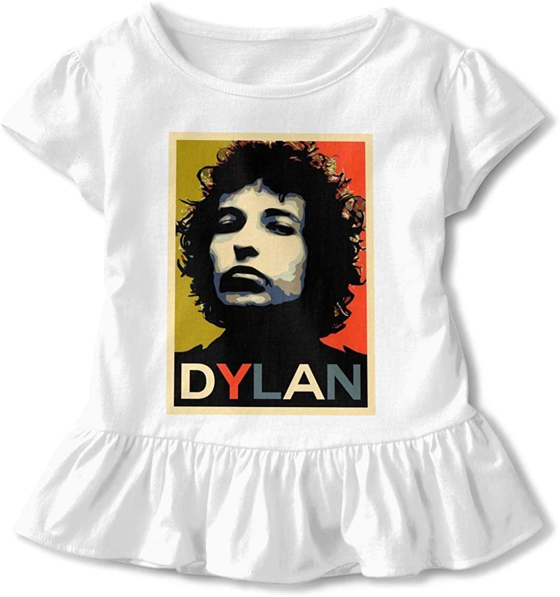 Funny Bob Dylan Children's Short Sleeve T White